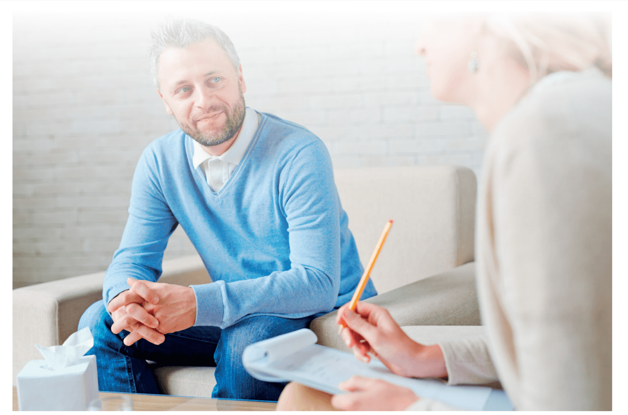 Man attending Counselling